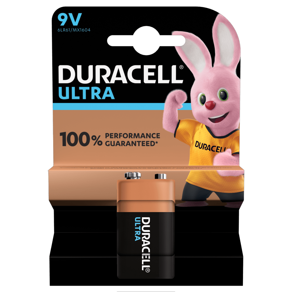 Duracell 9V Battery Ultra - 6LR61 and MX1604