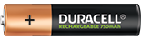 Duracell Rechargeable AAA-size battery 750mAh