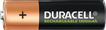 Duracell Rechargeable AA size battery 1300mAh