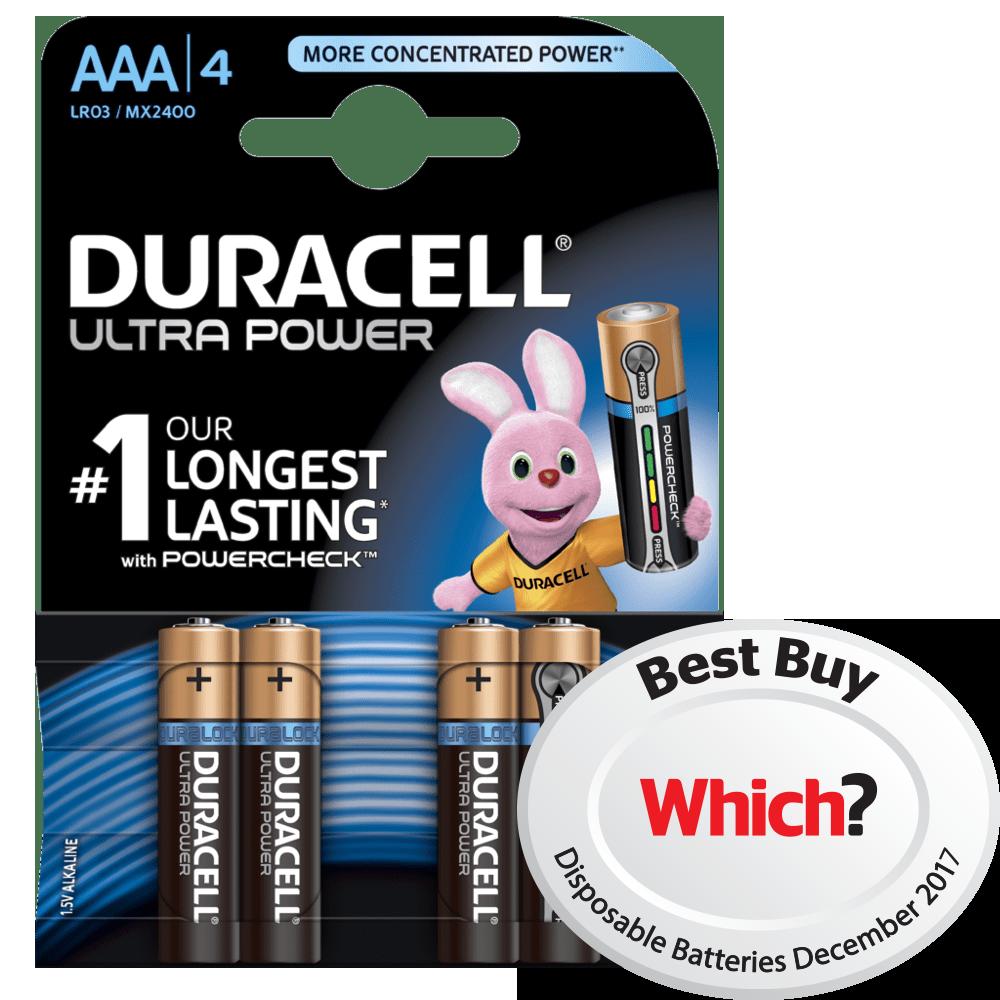 Powercheck technology duracell ultra power alkaline aaa batteries nvjuhfo Gallery