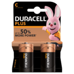 Duracell Alkaline Plus Type C-sized batteries in 2-piece pack