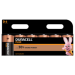 Duracell Plus Type Alkaline D batteries in 6-piece pack