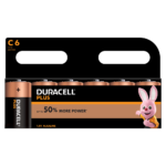 Duracell Alkaline Plus Type C-sized batteries in 6-piece pack