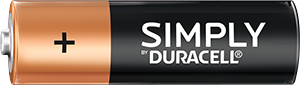 Simply by Duracell AA-size battery
