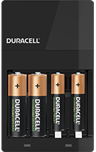 Duracell AA and AAA-size battery charger