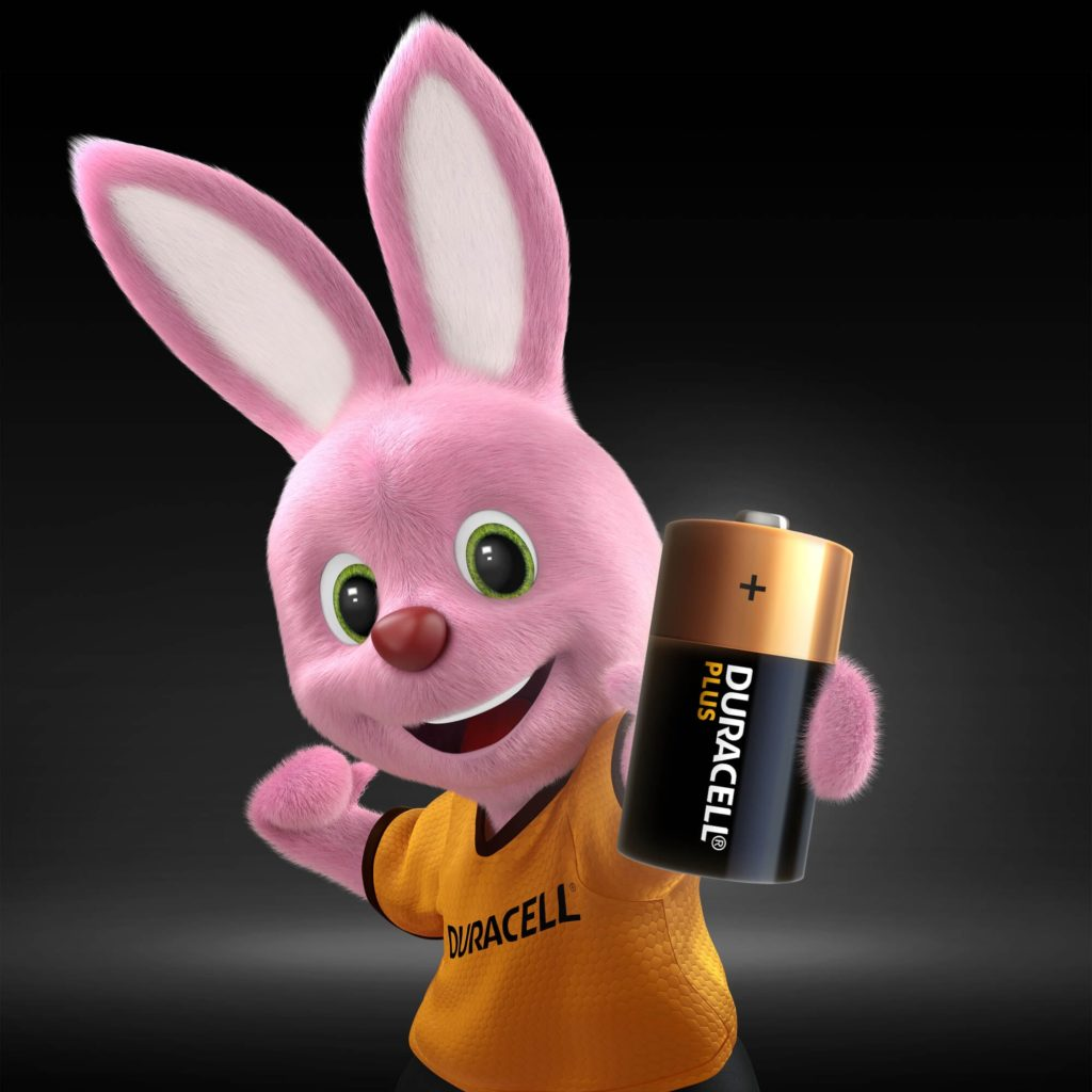 Bunny introducing Alkaline Plus Type C-sized battery