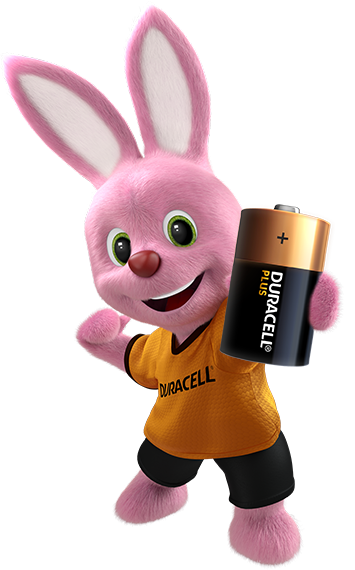 Duracell Bunny introducing Alkaline Plus Type D-size battery