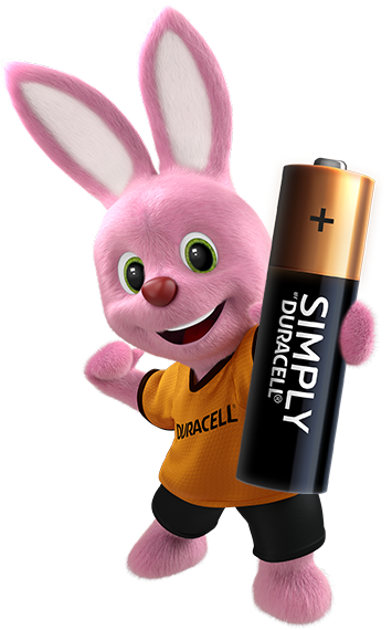 Bunny introducing Duracell Simply AA-size battery