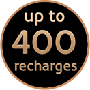 Up to 400 of recharges