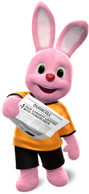 Duracell's Bunny introduces media posts about our company and products