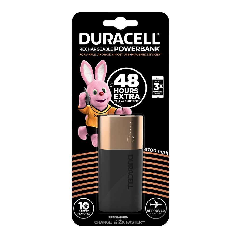 Duracell Powerbank 6700 mAh - charger for smartphones  97574c9c8
