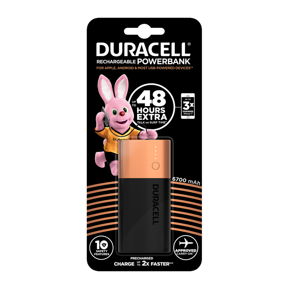 meet f0a10 544ce Duracell Power bank 6700 mAh - charger for smartphones | Power Banks