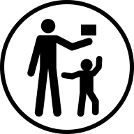 Keep away from children battery safety icon