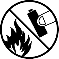 Do not dispose in fire battery safety icon