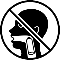 Do not swallow batteries safety icon