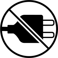 Do not recharge safety icon