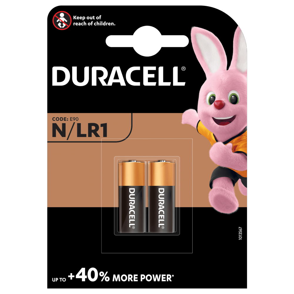 Duracell Specialty Alkaline N size 1.5V Batteries in a 2-piece pack