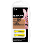 Duracell Hearing Aid Batteries Size 10 in 2-piece pack