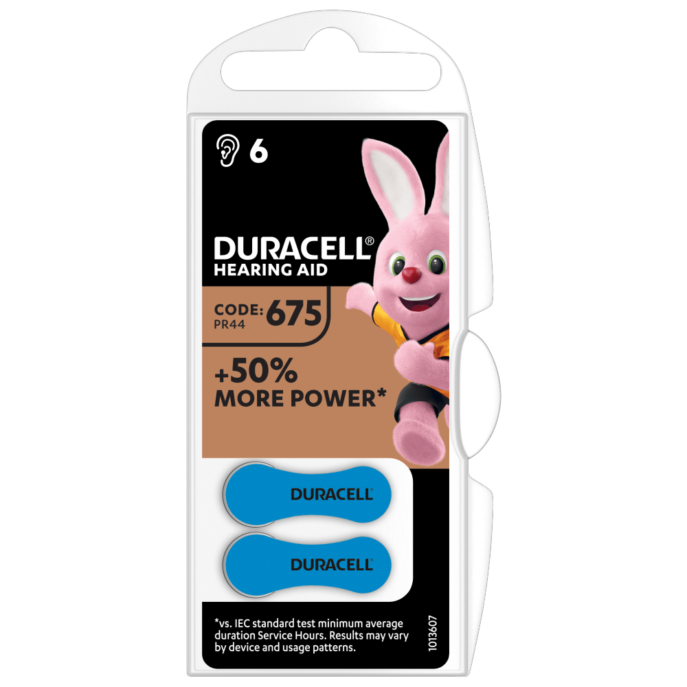 Duracell Specialty Hearing aids batteries size 675 in 2-piece pack