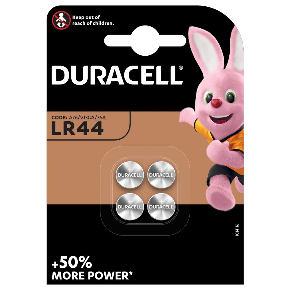 Duracell Specialty LR44 size Alkaline Button Battery 1,5V 4-piece pack