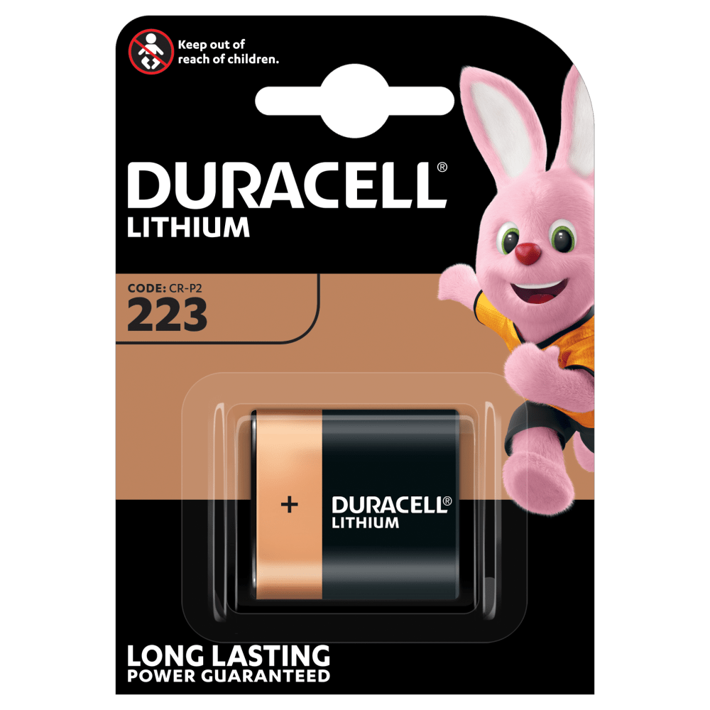 Duracell Specialty High Power Lithium 223 Photo Battery 6V