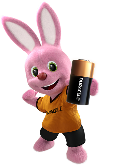 Bunny introducing Duracell Specialty High Power lithium 28L battery