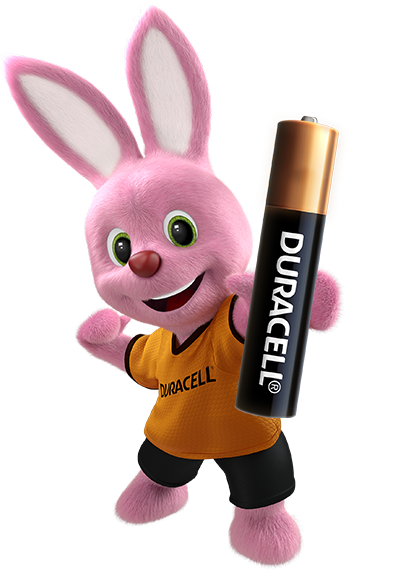 Bunny introducing Duracell Specialty Alkaline AAAA size 1.5V Battery