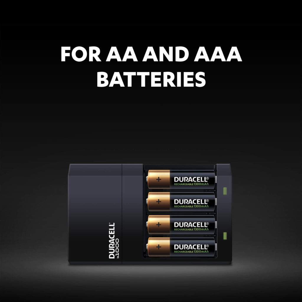 Charger for AA and AAA size batteries