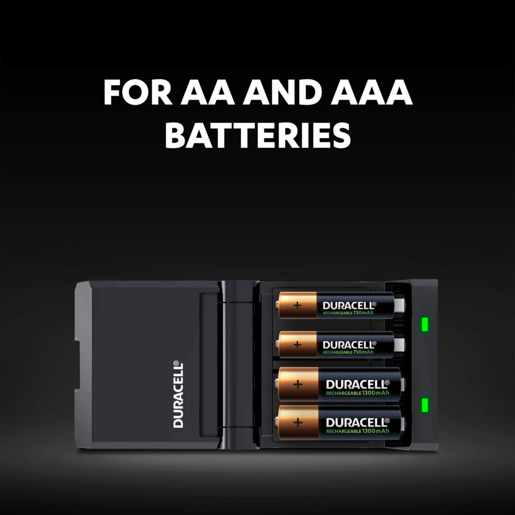 Charger for AA and AAA-size batteries