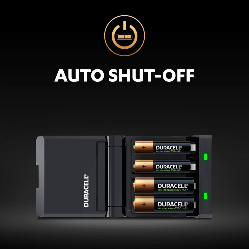 Auto Shut-off - after batteries are completely charged illustration