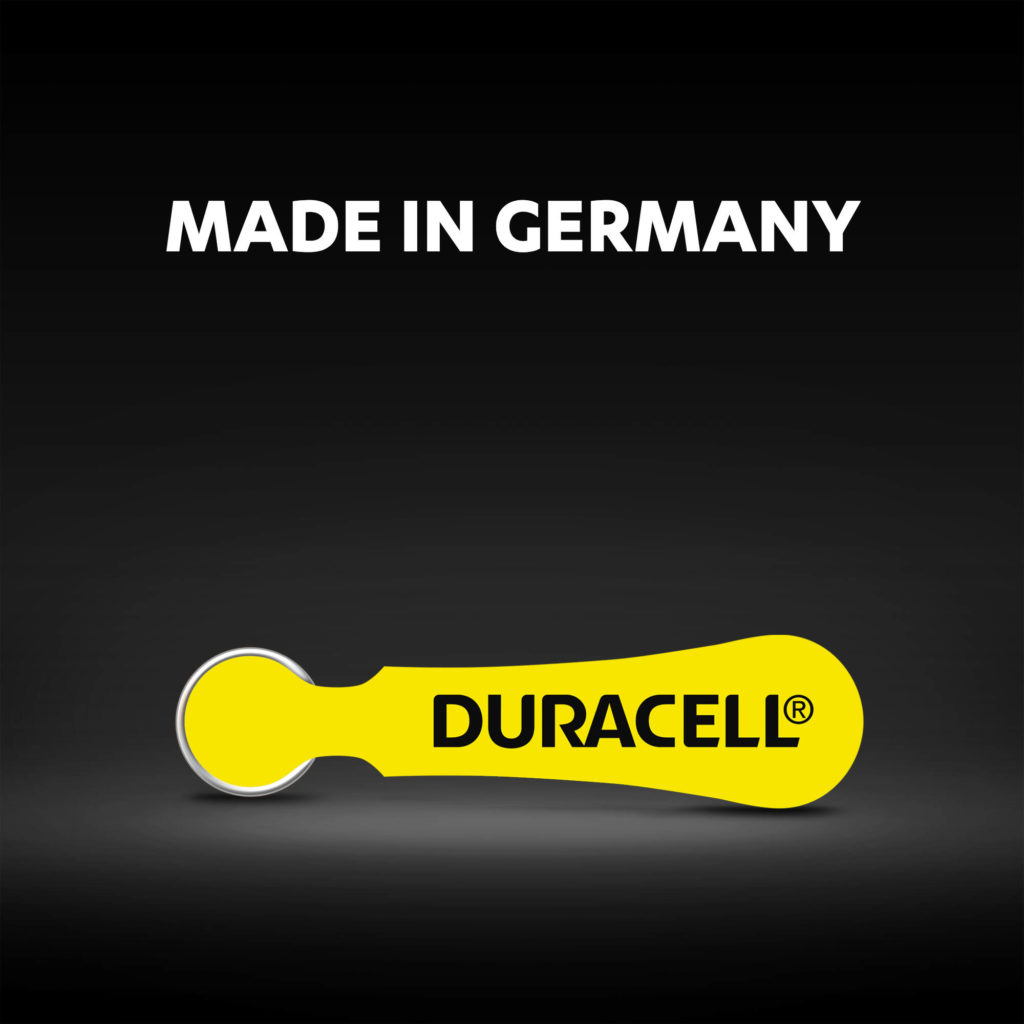 Duracell hearing aid batteries made in Germany