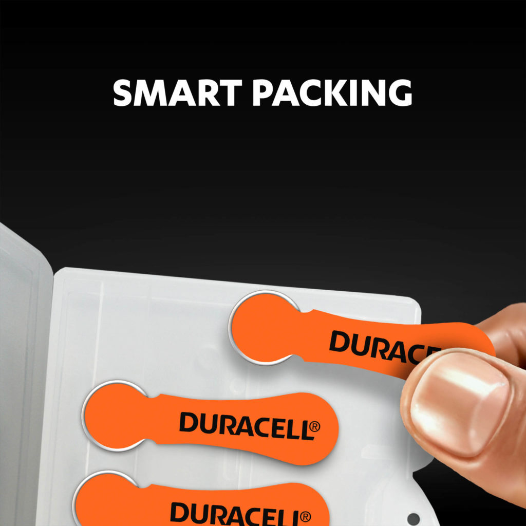 Smart packaging of hearing aids batteries size 13 icon