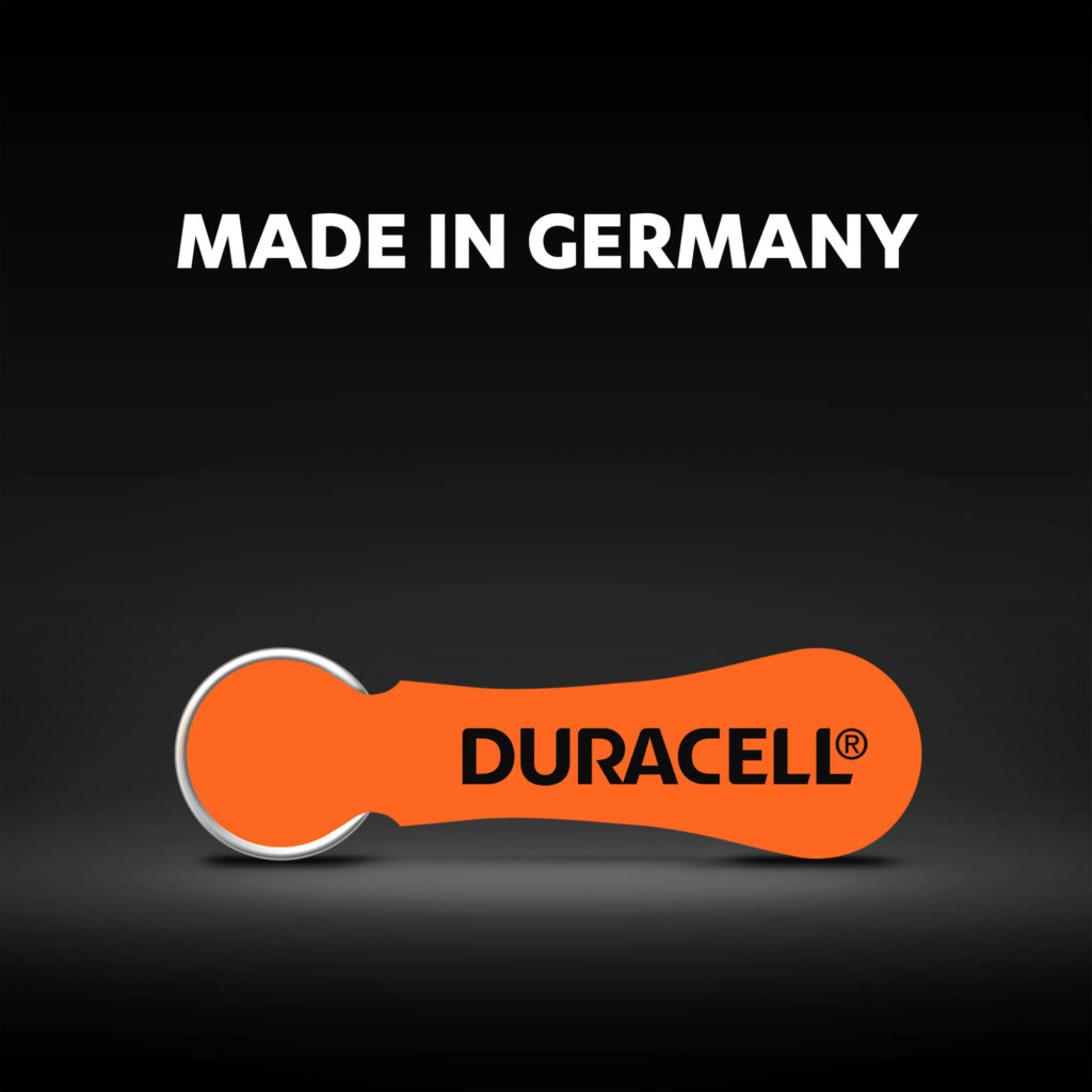 Hearing aids batteries made in Germany