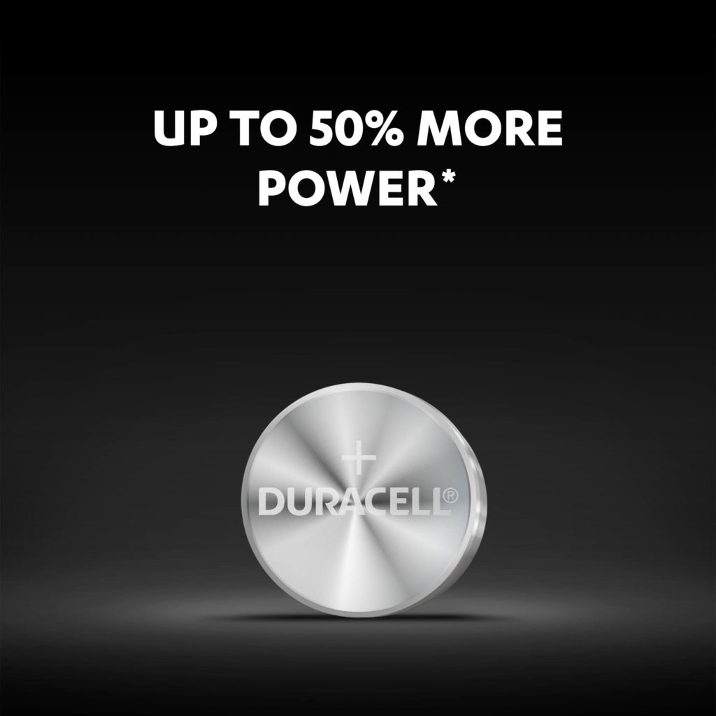 1/3N size button batteries with up to 50% more power