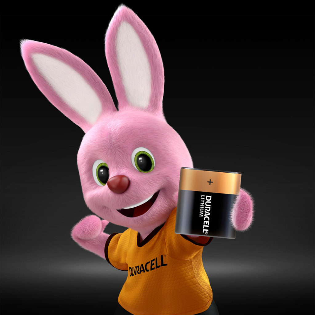 Bunny introducing Duracell Specialty High Power Lithium 223 size 6V Photo Battery