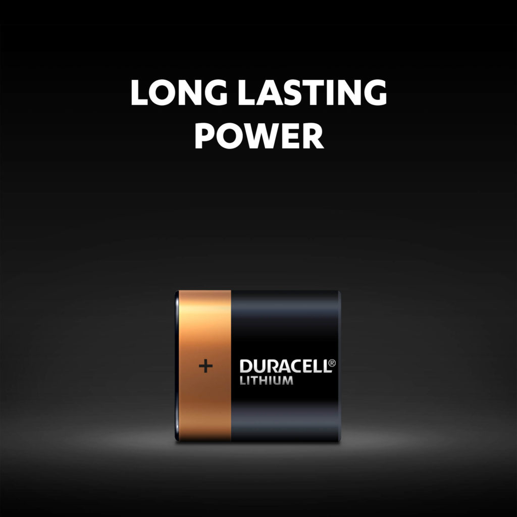 Long lasting power of Duracell 223 size lithium batteries