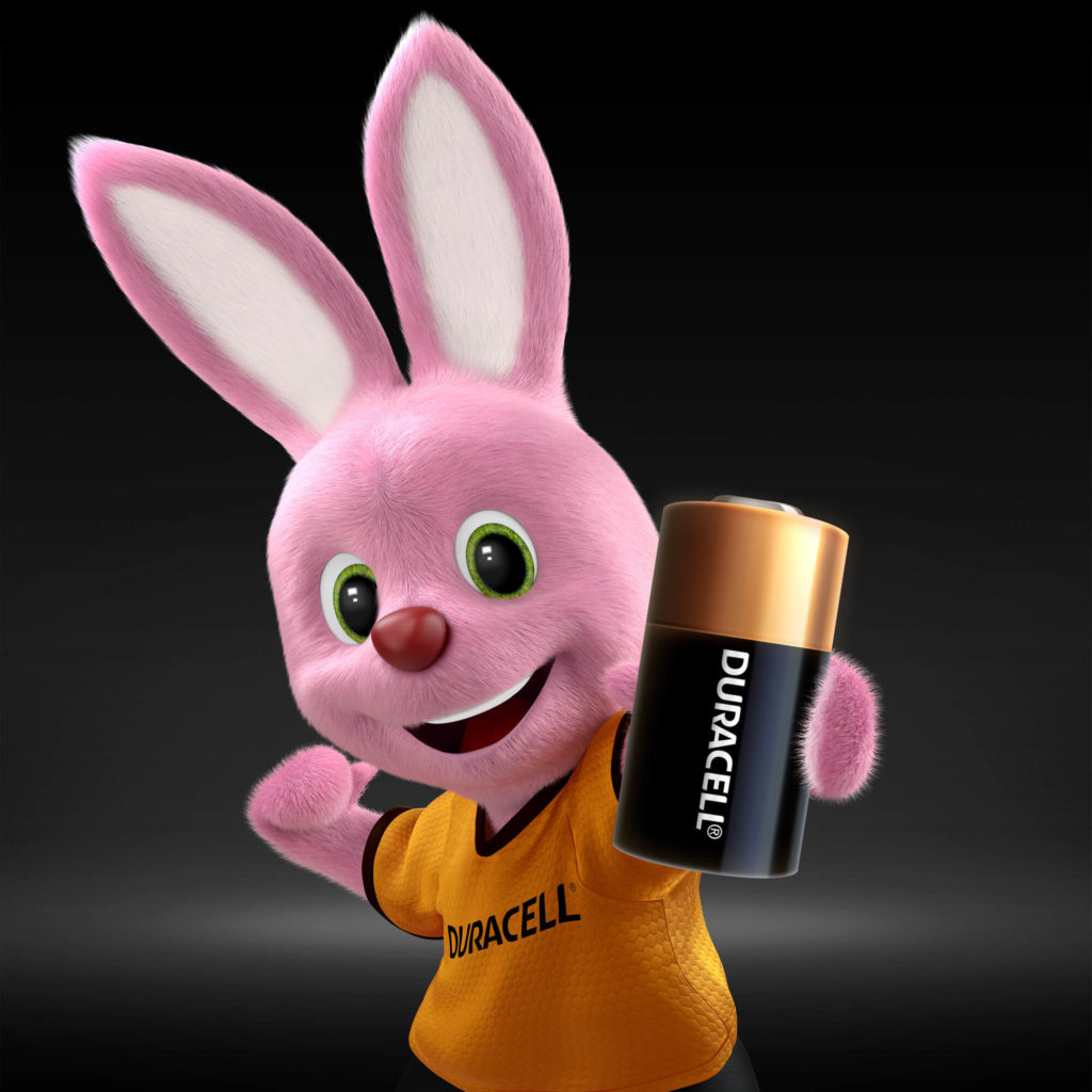 Bunny introducing Duracell Specialty High Power lithium 28L 6V battery