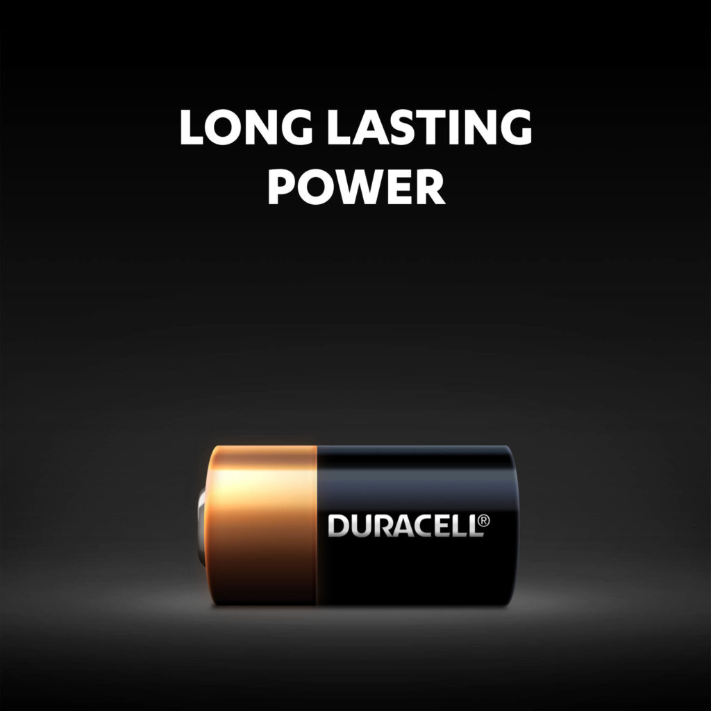 Long lasting power of Duracell 28L size lithium batteries
