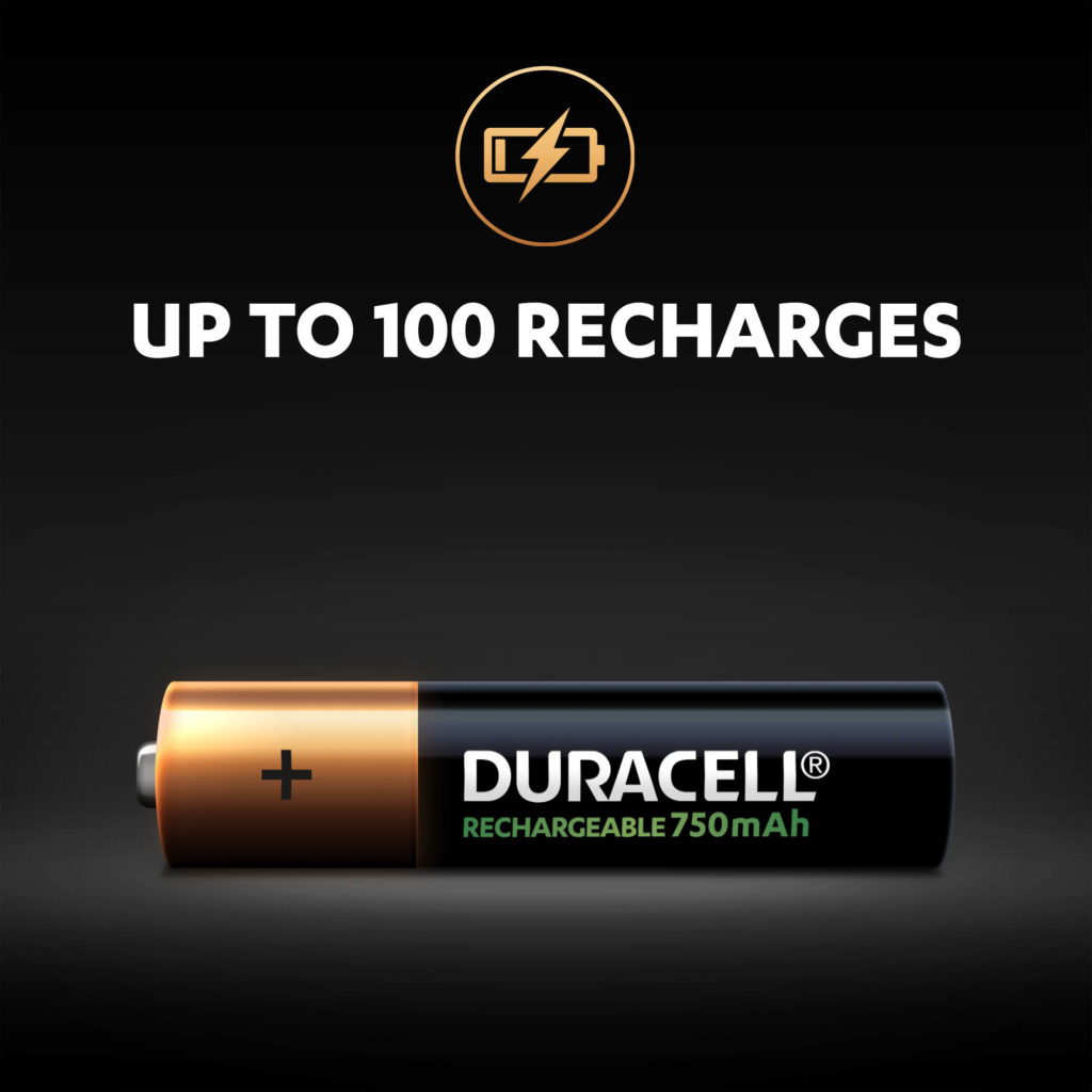 Up to 100 recharges