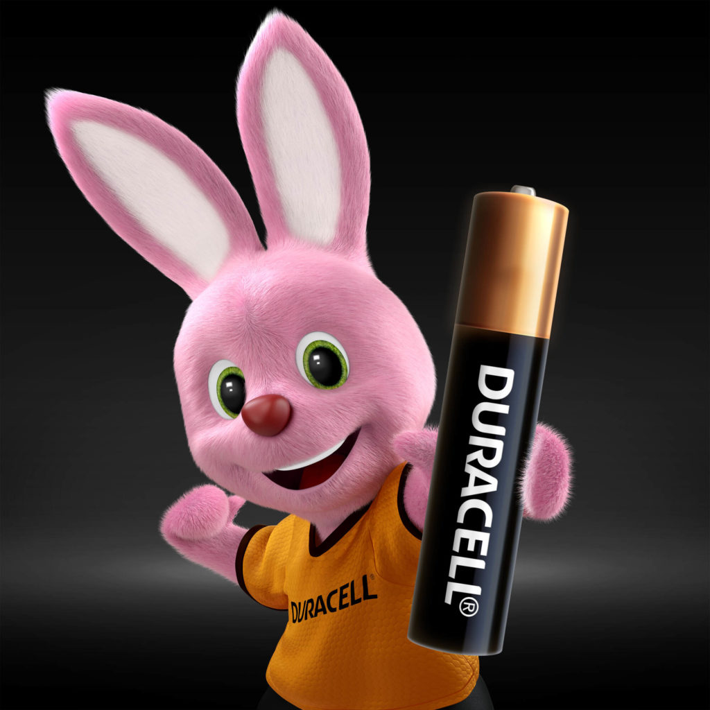 Bunny introducing Duracell Specialty Alkaline AAAA size battery