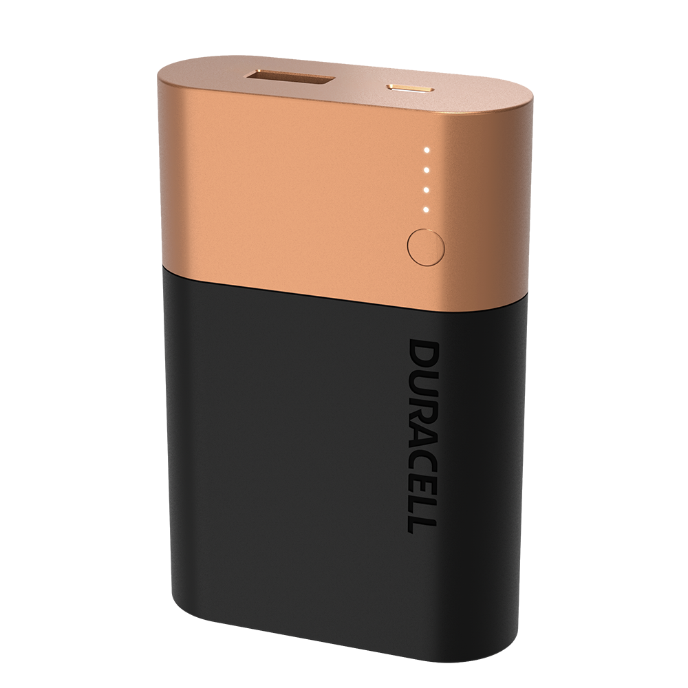 Duracell Rechargeable Powerbank 10050mAh on a white background